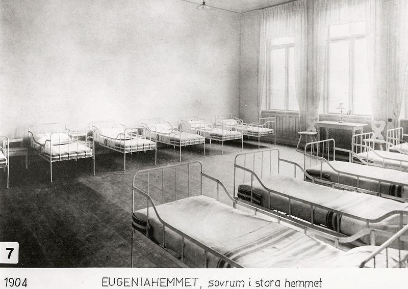 Sovrum i Stora Hemmet 1904.