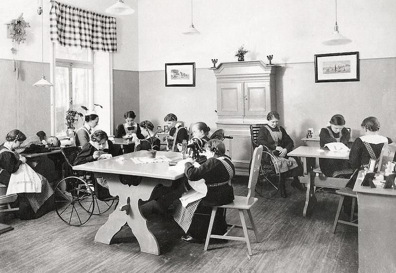 Dagrummet i Stora Hemmet 1914.