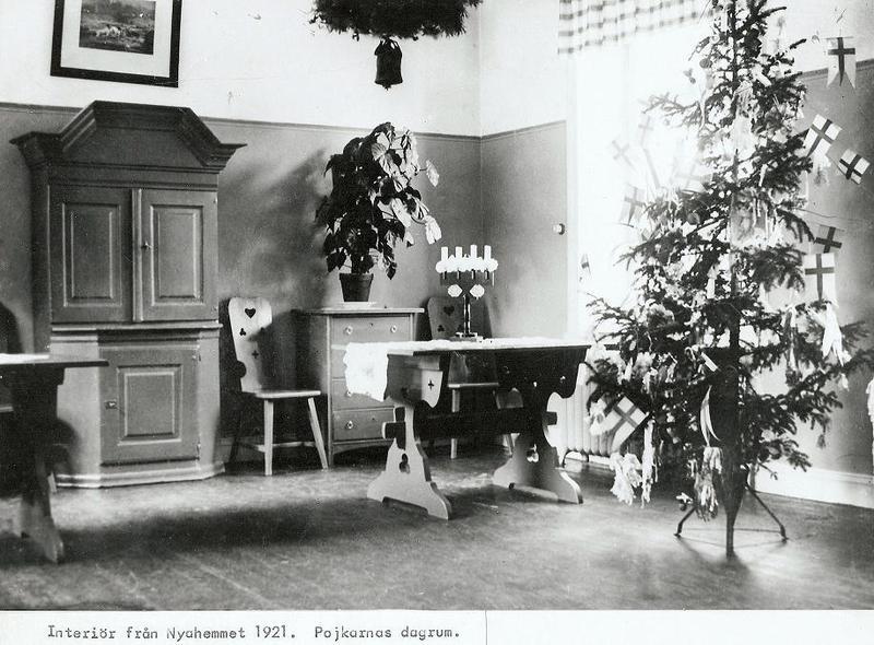 Pojkarnas dagrum i Nya Hemmet 1921.