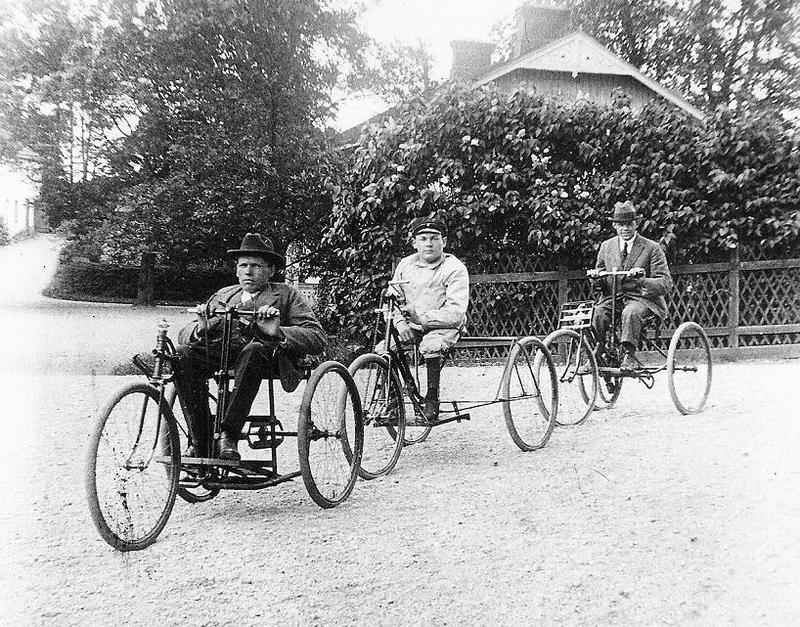 Tre cyklister 1926.