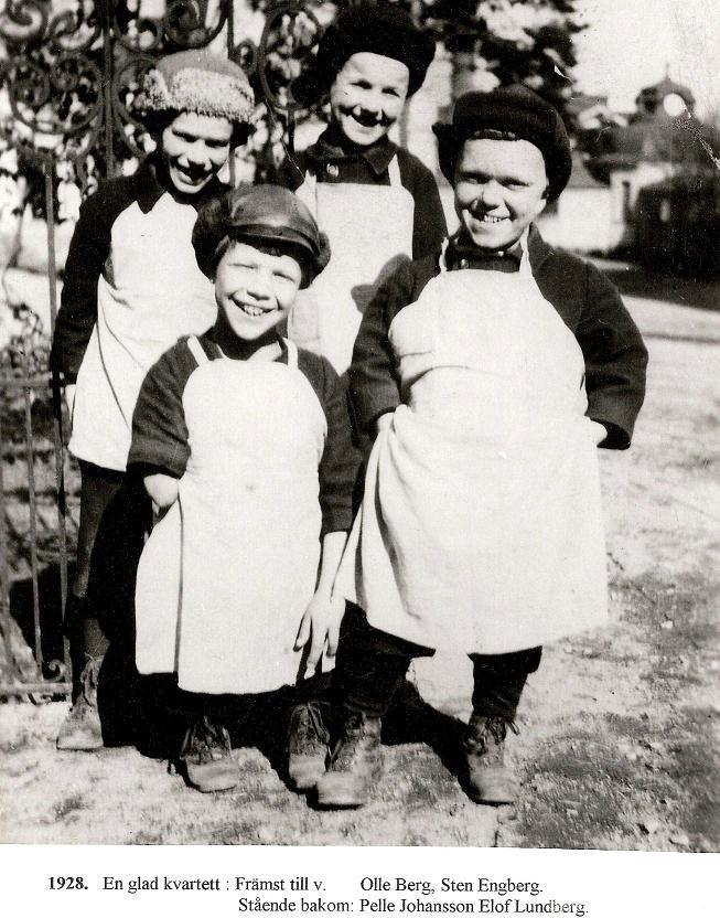 En glad kvartett 1928.