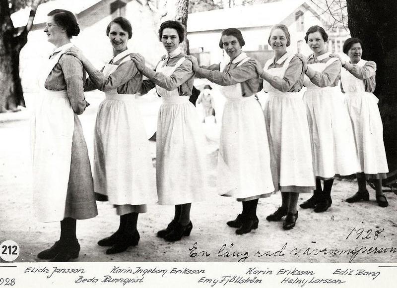 Vävrumspersonal 1928.