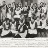 Syflickorna kring fröken Kruse 1928.