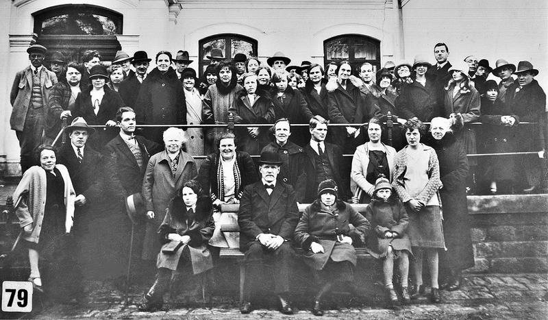 Gäster vid 50-års jubiléet 1929.