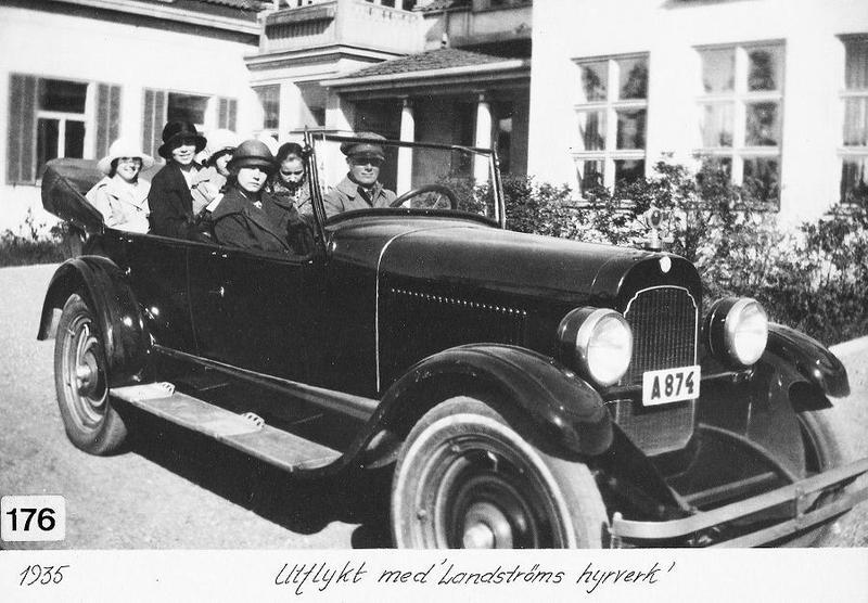 Bilutflykt 1935.