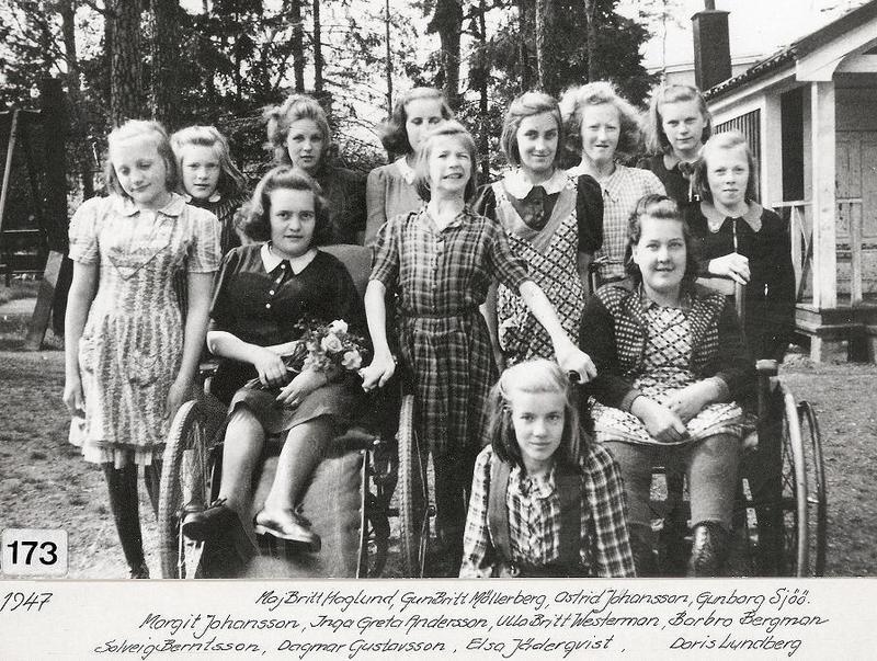 Gruppfoto flickor 1947.