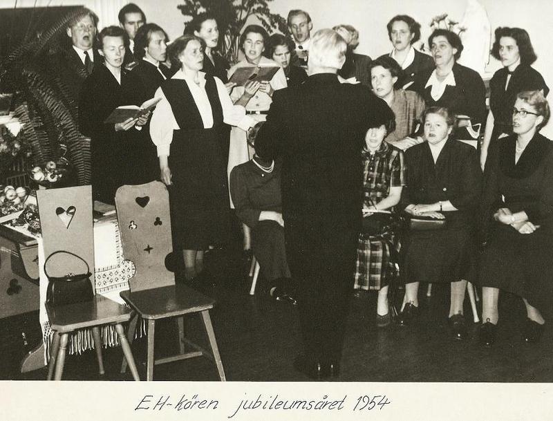 75-årsjubiléet 1954, Eh-kören.