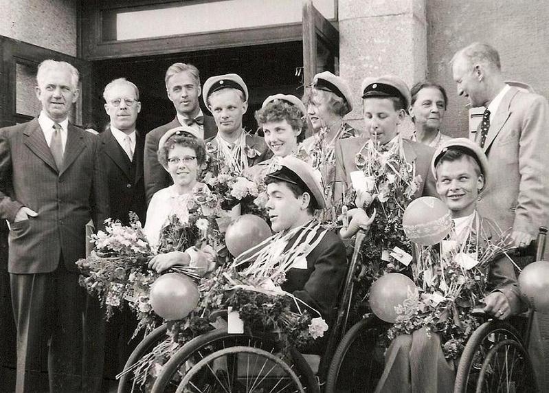 Realexamen år 1954.