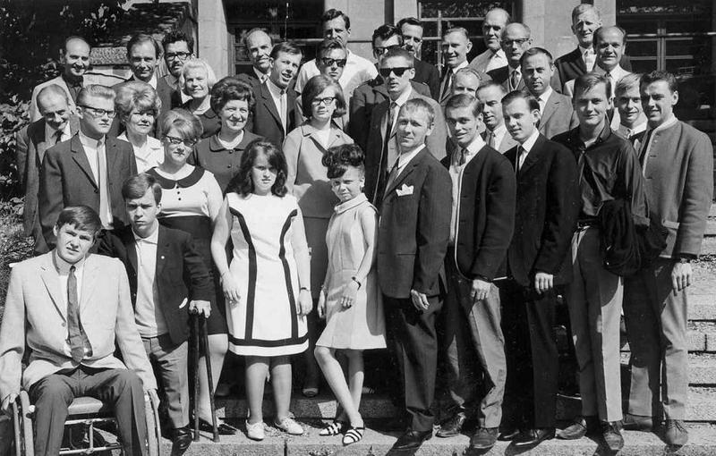 Avslutning yrkesskolan 1966.