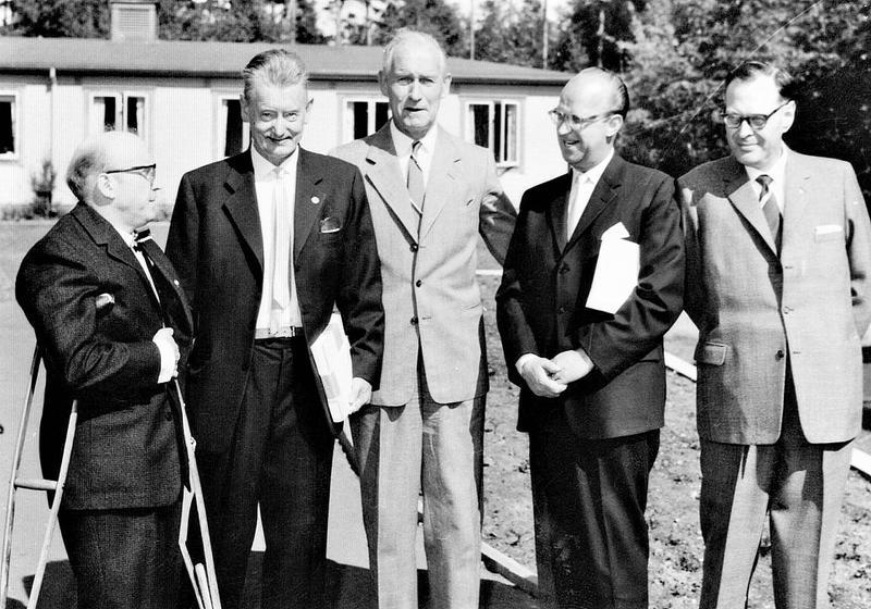 1960, 5 mäktiga män vid 30-års jub.