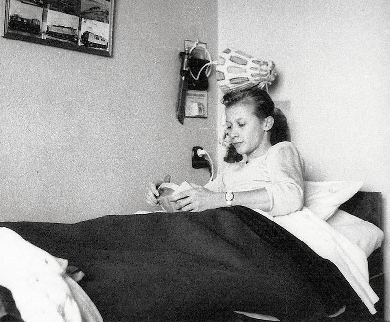 Rolf lyssnar på Radio Nord 1962.