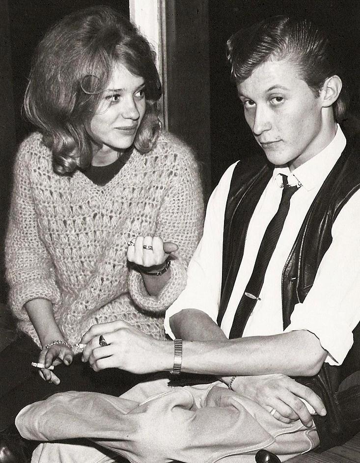 Gullevi och Rolf tar en rökpaus 1964.