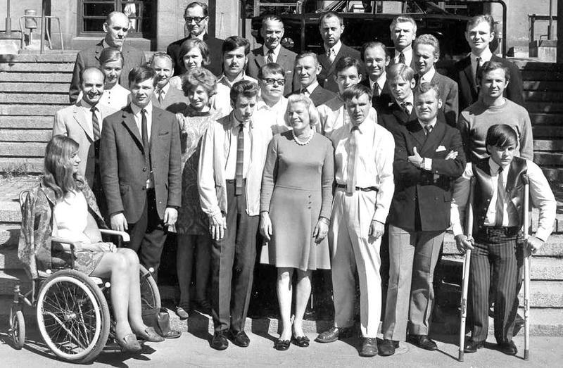 Avslutning yrkesskolan 1969.