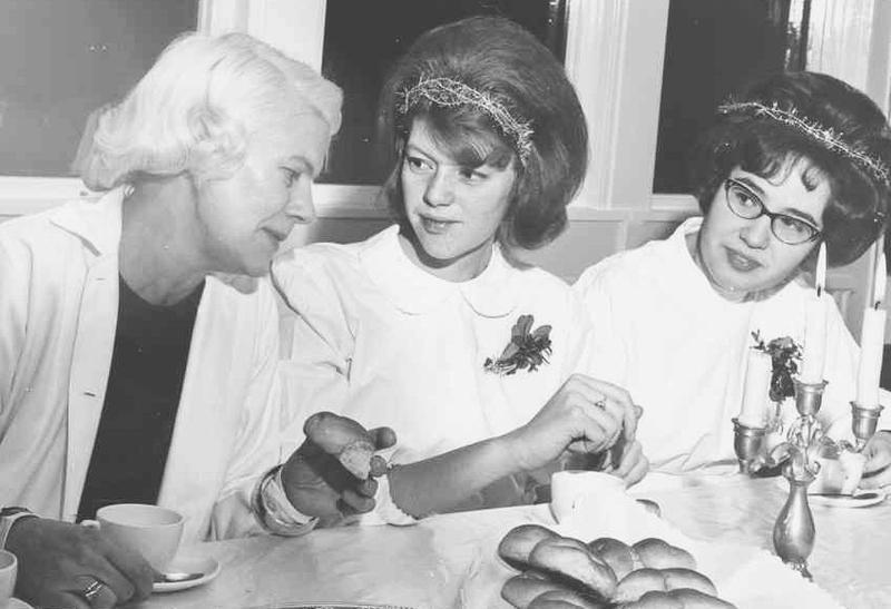 Hjördis Boström, Sylvia och Inga-Lill.