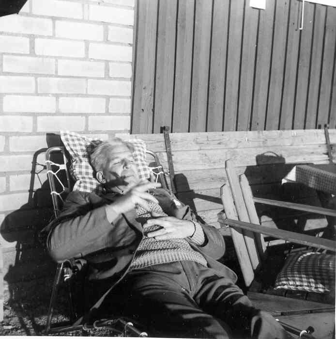 Bengt Hollén i typisk pose.