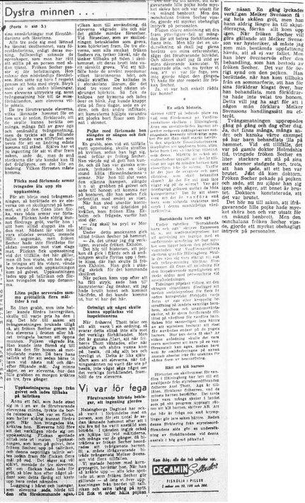 Skandalen 1950 artikel i HD 24 januari fortsättning