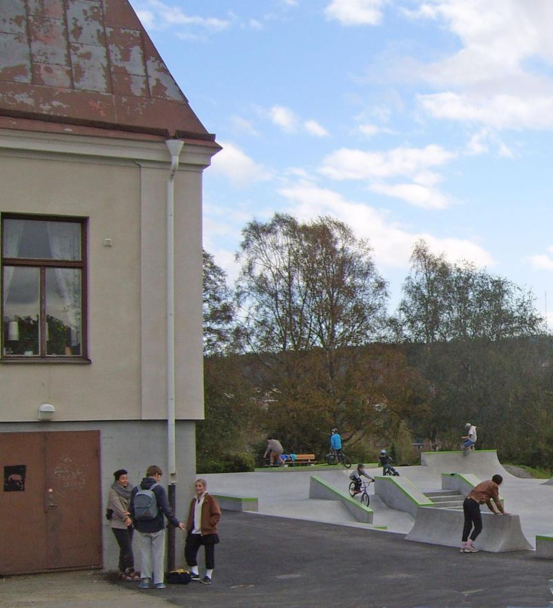 BMX- och skatepark öppnades 2014