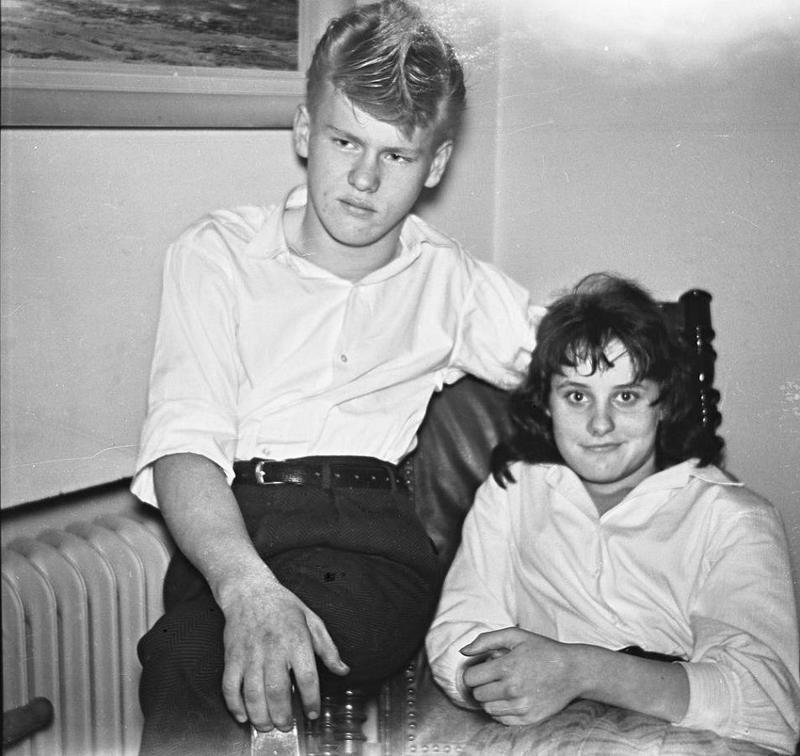 Bo Areskoug och Barbro Pilstål 1958.