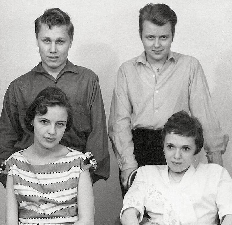 Bobby, Helge, Api och Elsie.