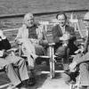 Fyra lärare på en båttur.