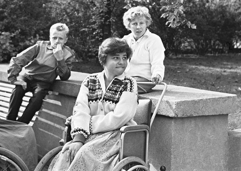 Ingvar Starkenberg, Birgitta Blomqvist och Birgit Carlsson ca 1957.