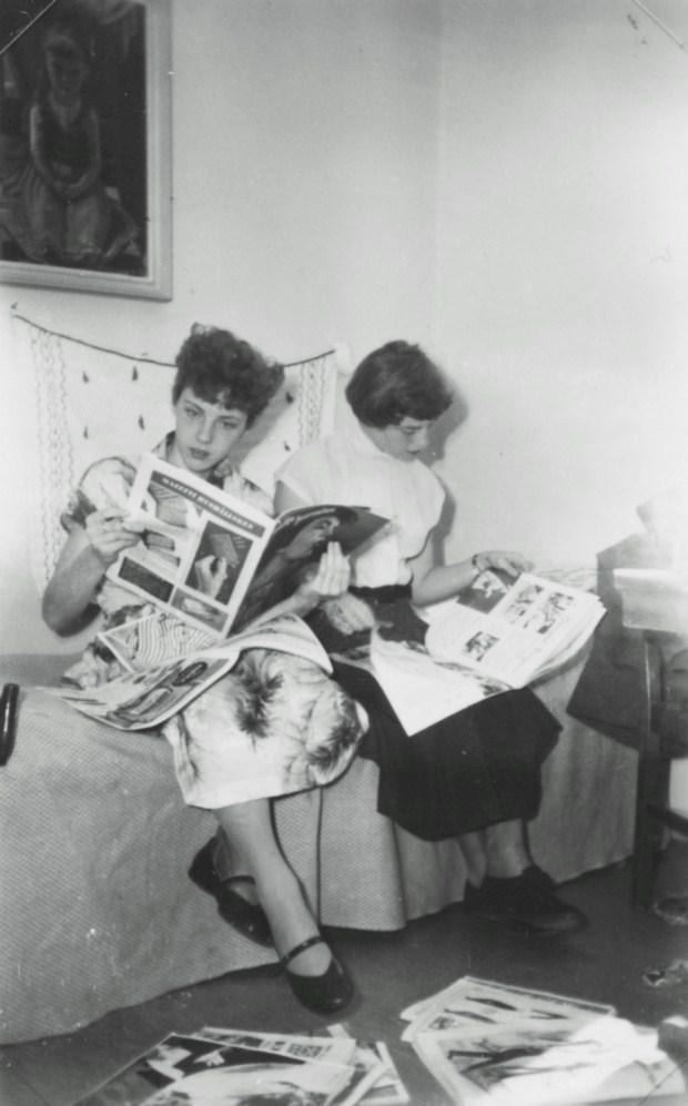 Kerstin och Marianne 1953-54.