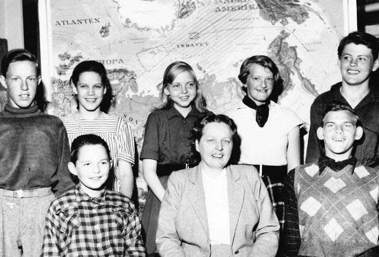 Klass 7 år 1953