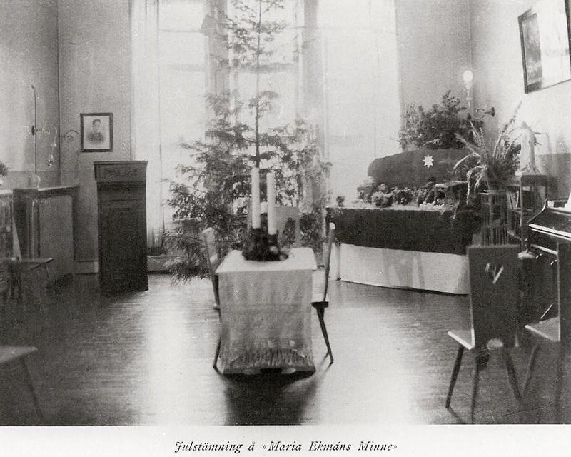 Maria Ekmans Minne, julstämning.