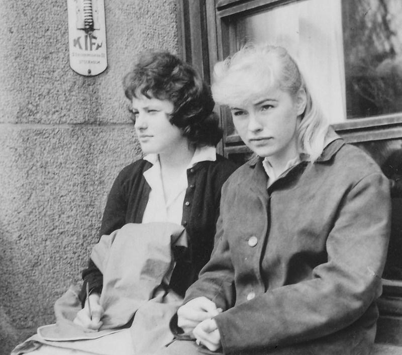 Barbro Pilstål och Gunnel Källqvist 1959.