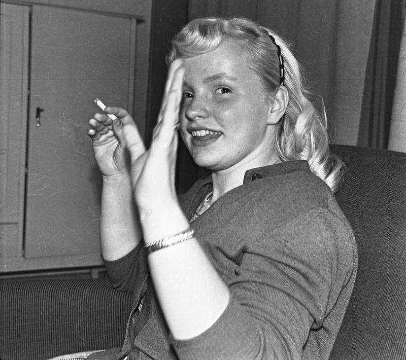 Gunnel Kjällqvist 1958.