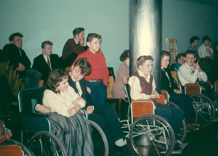 Elever i samlingssalen ca. 1957.
