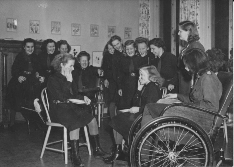 Norrbacka scoutkår på Eugeniahemmet 1949