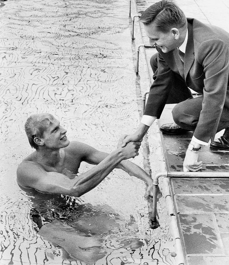 Olof Palme på besök.