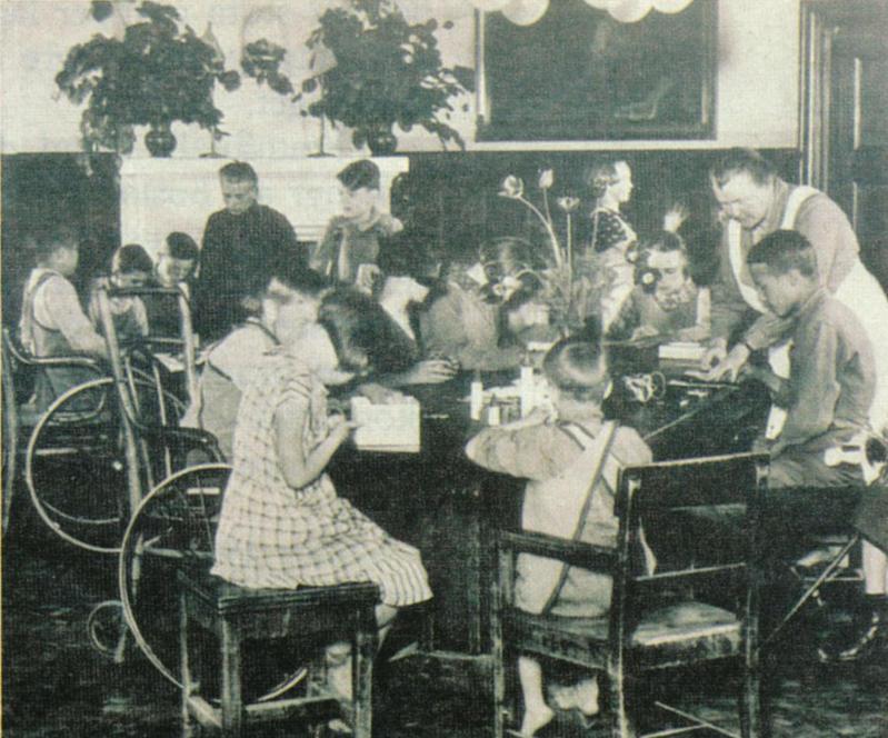 Skolhemmets dagrum början av 1940-talet